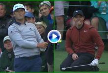 Impresionantes Jon y Rory: Rahm da la réplica a un tirazo de McIlroy en el hoyo 16 del National (VÍDEO)