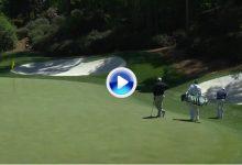 El Golf es duro, y Augusta más: Sergio chipeó desde antegreen para eagle y salió con bogey (VÍDEO)