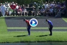 Willett y Hatton revolucionan Augusta con dos golpes simultáneos sobre el agua del 16 (VÍDEO)
