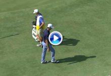 Horschel pidió disculpas por tirar el palo y golpear a su caddie en el 13 del TPC Sawgrass (VÍDEO)