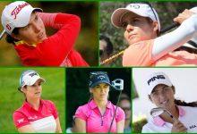 Quinteto de lujo en el Kingsmill Champ. de la LPGA. Carlota, Azahara, Recari, Mozo y Parra en el campo