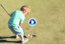 El Golf es duro: el hijo de Blumerherst muestra lo difícil que puede llegar a ser este deporte (VÍDEO)