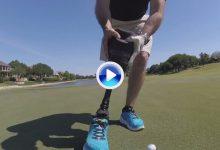 Un soldado que perdió una pierna en Afganistán embocó este putt con su prótesis (Inc. VÍDEO)