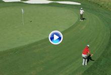 Este grandísimo y complicado golpe de Jon Rahm podría valer un título, el segundo en el PGA (VÍDEO)