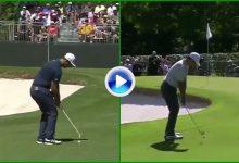 El Golf es duro: Rahm y Kim cometieron el mismo error, no fue un salto de rana pero casi (VÍDEO)