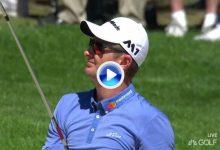 El Golf es duro: Espectacular socket de Justin Rose, se fue fuera de límites y se apuntó un ocho (VÍDEO)