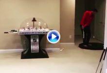 ¡Vaya mano! Paul Peterson o el arte del Trick Shot desde la sala de juegos de casa (VÍDEO)