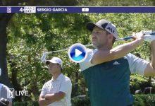 Sergio García volvió a lucirse con este birdie. Jugó desde 220 metros y la dejó a 1,8 (VÍDEO)