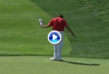 Bubba Watson le dedicó a un espectador molesto uno de su grandísimos putts del sábado (VÍDEO)
