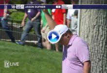 El golpe del día fue una genialidad de Dufner desde 161 metros jugando con el fondo de green (VÍDEO)