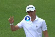 Thomas vio algo que los demás no vimos en el 5. Posiblemente el golpe del US Open (VÍDEO)