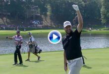 El Golpe del Día en el PGA fue para Marc Leishman con una auténtica joya desde 105 yardas (VÍDEO)