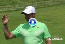 ¡Booommm! Eagle de Rory tras cazar el green desde el tee sorprendiendo a los que pateaban (VÍDEO)