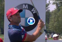 Sergio volvió a sacar la magia que atesora en su juego corto. Es 3º en el BMW tras firmar 66 (VÍDEO)