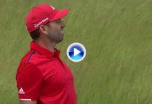 ¡Menudo approach! Sergio se dejó un birdie dado en el 5 de Erin Hills, su segundo consecutivo (VÍDEO)