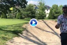 ¡Alucinante! Este jugador consigue un Trick Shot desde el bunker… ¡y de espaldas! (VÍDEO)