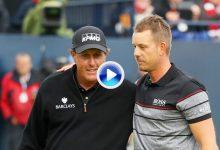 Así fue el maravilloso y épico duelo entre Stenson y Mickelson en la ronda final del Open 2016 (VÍDEO)