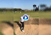 Ian Poulter demuestra que ya está listo para el Open con una sacada de bunker perfecta (VÍDEO)