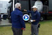 Así fue el dropaje entre camiones y la conversación de Spieth con Paramor, árbitro del Open (VÍDEO)