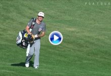 La anécdota: Bradley se colgó la bolsa al hombro después de hacer eagle desde 132 metros (VÍDEO)