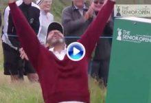 Santi Luna también celebra los eagles. No se pierda como festejó este gran golpe el madrileño (VÍDEO)