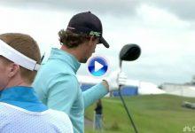 Pieters volvió a cargar toda su frustración en el palo. Partió el driver tras fallar el golpe (VÍDEO)