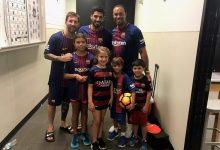 Tiger reaparece en las redes y muestra orgulloso una foto junto a sus hijos, Luis Suárez y Leo Messi