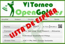 Sold out! La VI edición del Torneo OpenGolf cuelga el cartel de completo a 48 horas del inicio