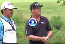 """Hoffman discutió con su caddie la táctica en el 16: """"Estoy cansado de terminar segundo"""" (VÍDEO)"""