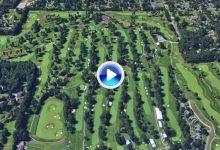 Así es, a vista de pájaro, el Firestone, campo donde Jon, Sergio y Rafa buscan un título mundial (VÍDEO)