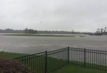 Houston está en vilo por el paso del huracán Harvey. Multitud de campos, afectados por la lluvia
