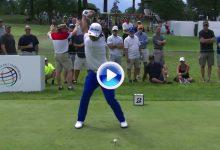 Precisión, técnica… y fuerza. Descubran el swing de Matsuyama, campeón del Bridgestone (VÍDEO)