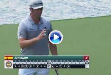 ¡¡Boooommm!! Jon Rahm ya es sexto en el PGA Championship gracias a birdies como éste (VÍDEO)