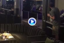 Un dispensador se volvió loco y comenzó a expulsar bolas a los clientes de un bar Top Golf (VÍDEO)