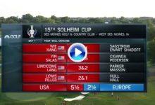 Europa bailó al son que tocó el Team USA en los fourballs del viernes: 4-0 con suficiencia (VÍDEO)