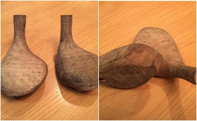 1915-1920 Cabezas de maderas en proceso de producción