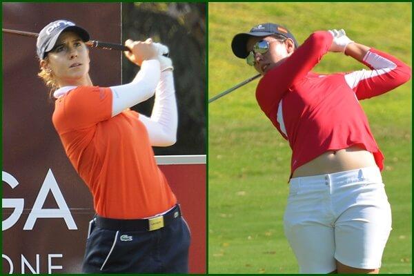 Azahara Muñoz y Carlota Ciganda en el Open de España. Foto Felipe Pérez y OpenGolf.es
