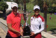 """Azahara Muñoz y Carlota Ciganda: """"Nos motiva mucho el Open de España y venimos a por todas"""""""