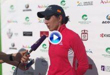 """Carlota, a uno de la cabeza en el Open de España: """"Si aprovecho los pares 5 estaré arriba"""" (VÍDEO)"""