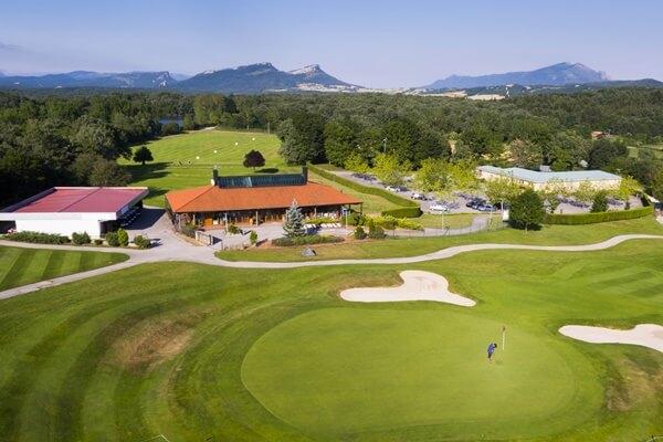 Vista aérea de Izki Golf, campo que acoge el Challenge de España 2017