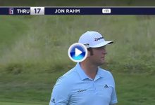 Con este gran golpe en el green, Jon Rahm cerraba su cuenta de birdies en el sábado ¡hasta 7! (VÍDEO)
