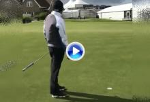 Nathan Kimsey o cómo convertir un putt de menos de un metro sin apuntar al agujero (VÍDEO)