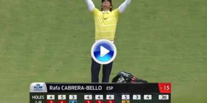 Un golpazo de C.-Bello se mete entre los 10 mejores de la historia en el KLM Open de Holanda (VÍDEO)