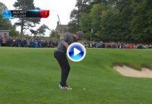 Rory cerró los primeros nueve hoyos en el British Masters con ¡31 golpes! y este mágico chip (VÍDEO)