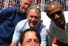 ¿Se imaginan esta foto de Mickelson con Obama, Clinton y Bush en versión española?