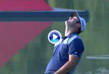 Maravilloso chip de Jon Rahm en el hoyo más difícil del HSBC Champions, Mundial de China (VÍDEO)
