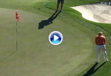 Jiménez volvió a a maravillar en EE.UU. Embocó la bola con la punta del putt desde el rough (VÍDEO)