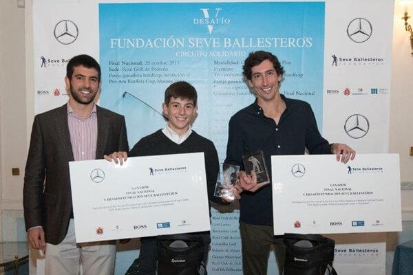 Miguel Ballesteros y los ganadores del Desafío FSB