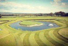 Gareth Bale ya tiene la réplica de la mítica isla del hoyo 17 de Sawgrass en el jardín de su casa