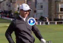 ¡Boooommmmm! Rory McIlroy cazó el green del 18 de St. Andrews con un misil de ¡360 yardas! (VÍDEO)